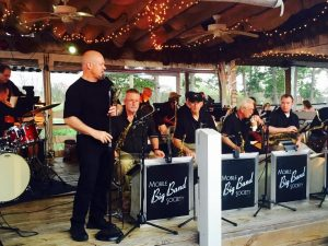 Mobile Big Band Society performs on the deck at the Bluegill Restaurant @ Bluegill Restaurant